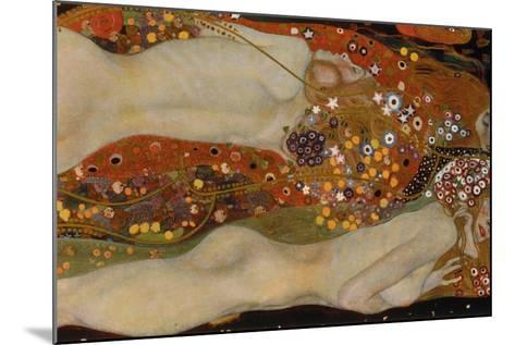 Water Serpents II, 1904-07-Gustav Klimt-Mounted Giclee Print