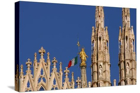 Italy. Milan Catheral. Madona Del Duomo, by Giuseppe Perego in 1774--Stretched Canvas Print