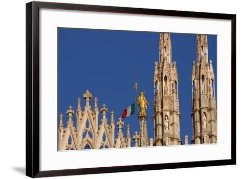 Italy. Milan Catheral. Madona Del Duomo, by Giuseppe Perego in 1774--Framed Art Print