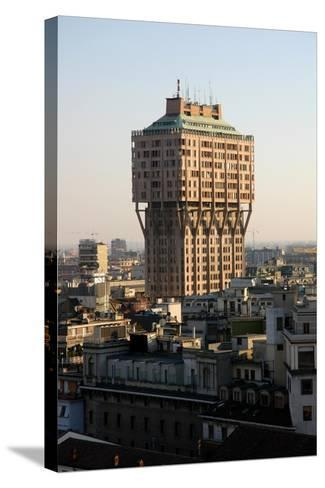 Italy. Milan. The Velasca Tower--Stretched Canvas Print