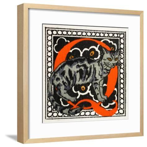 C' for Cat-Georges Barbier-Framed Art Print