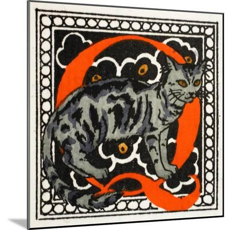 C' for Cat-Georges Barbier-Mounted Giclee Print