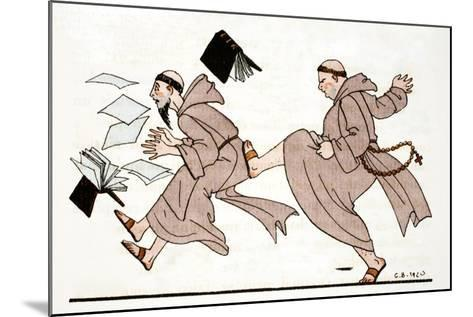 Being Chased by the Abbot, 1920-Georges Barbier-Mounted Giclee Print