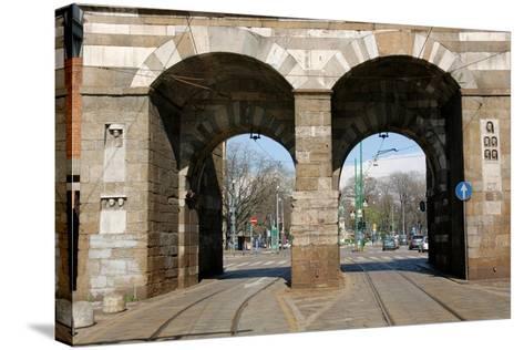 Italy. Milan. Porta Nuova--Stretched Canvas Print