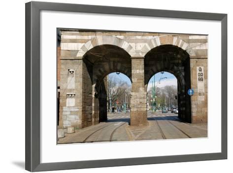 Italy. Milan. Porta Nuova--Framed Art Print