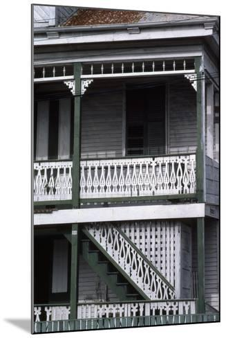 Detail of a Traditional House, Belize City, Belize--Mounted Photographic Print
