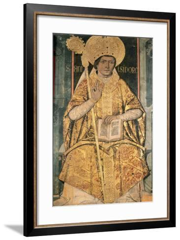 Saint Isidore of Seville (C. 560?636). Bishop, Confessor and Doctor of the Church. Altarpiece of…--Framed Art Print