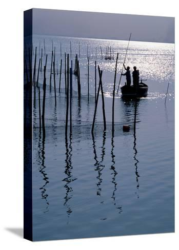 Spain. Valencia. Albufera Lake. Sunset--Stretched Canvas Print