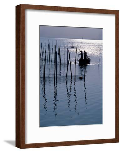 Spain. Valencia. Albufera Lake. Sunset--Framed Art Print