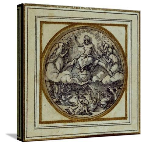 The Last Judgment - Design for a Pendant or Hat Badge, C.1532-43-Hans Holbein the Younger-Stretched Canvas Print