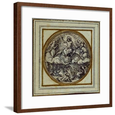 The Last Judgment - Design for a Pendant or Hat Badge, C.1532-43-Hans Holbein the Younger-Framed Art Print