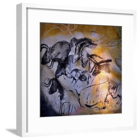Animals and Birds, Chauvet-Pont-D'Arc Cave, Ardeche--Framed Art Print