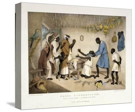 Negro Superstition, Illustration from 'West India Scenery', 1836-Richard Bridgens-Stretched Canvas Print