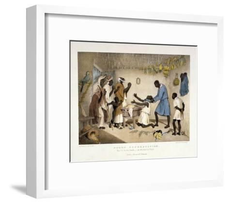 Negro Superstition, Illustration from 'West India Scenery', 1836-Richard Bridgens-Framed Art Print