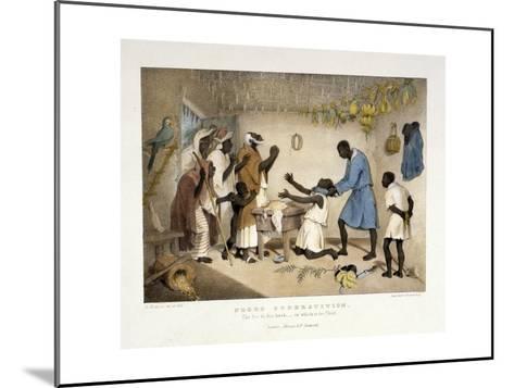 Negro Superstition, Illustration from 'West India Scenery', 1836-Richard Bridgens-Mounted Giclee Print