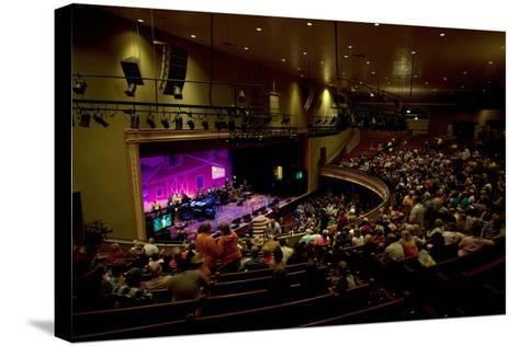 The Grand Ol Opry Night at Theryman Auditorium in Nashville Tennessee--Stretched Canvas Print
