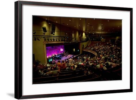 The Grand Ol Opry Night at Theryman Auditorium in Nashville Tennessee--Framed Art Print