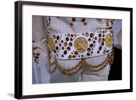 Elvis Presley Stage Suit at the Rock and Soul Museum in Memphis Tennessee--Framed Art Print