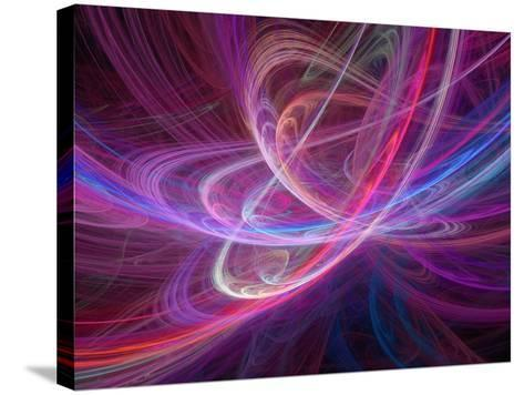 Chaos Waves, Artwork-Laguna Design-Stretched Canvas Print