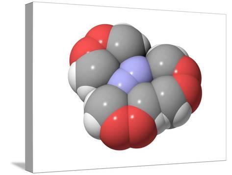 HMTD Explosive, Molecular Model-Laguna Design-Stretched Canvas Print