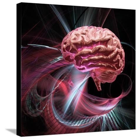 Brain Research, Conceptual Artwork-Laguna Design-Stretched Canvas Print