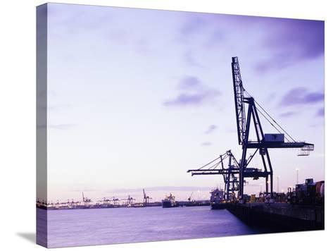 Container Cranes-Carlos Dominguez-Stretched Canvas Print