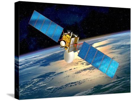 Communications Satellite, Artwork-David Ducros-Stretched Canvas Print