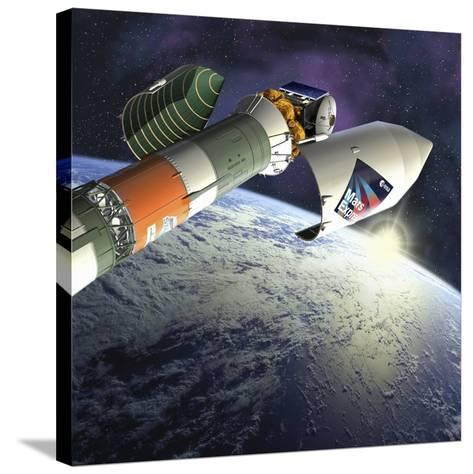 Mars Express Launch, Artwork-David Ducros-Stretched Canvas Print