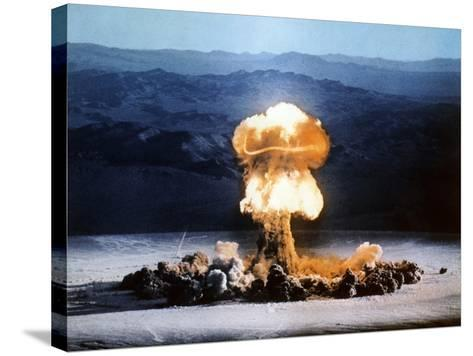 Atomic Bomb Explosion-u.s. Department of Energy-Stretched Canvas Print
