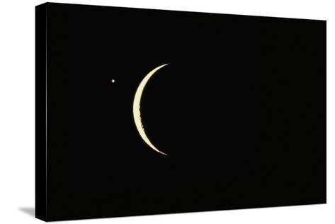 Photo of Venus & Crescent Moon-Fred Espenak-Stretched Canvas Print