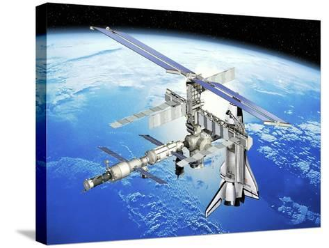 Astrolab Mission To the ISS, Artwork-David Ducros-Stretched Canvas Print