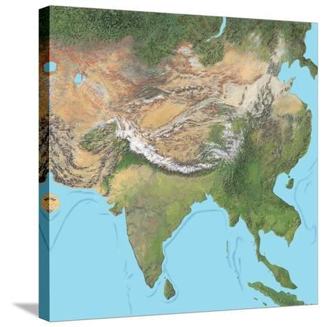 Map of Asia-Gary Gastrolab-Stretched Canvas Print