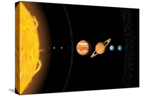 Solar System Planets, Artwork-Gary Gastrolab-Stretched Canvas Print