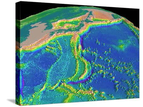 Mariana Trench Sea Floor Topography-us Geological Survey-Stretched Canvas Print