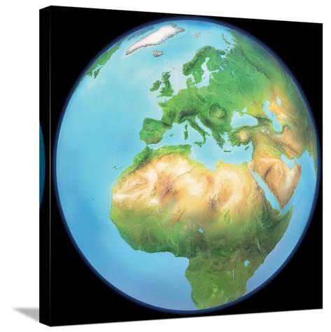 Earth Globe, Artwork-Gary Gastrolab-Stretched Canvas Print
