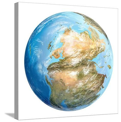 Pangea Supercontinent, Artwork-Gary Gastrolab-Stretched Canvas Print