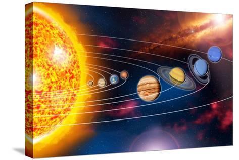 Solar System Planets-Jose Antonio-Stretched Canvas Print