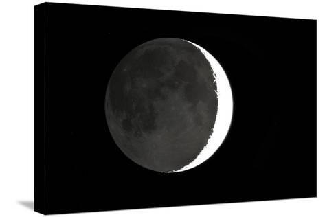 Crescent Moon And Earthshine-Dr. Juerg Alean-Stretched Canvas Print