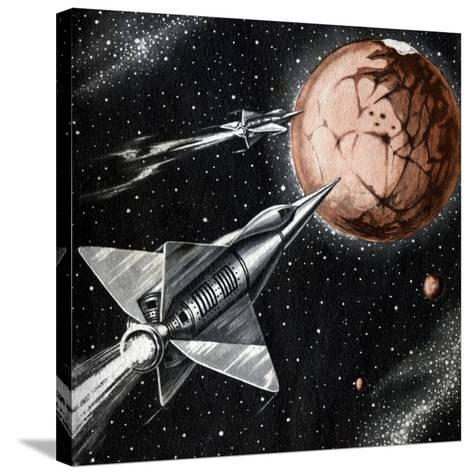 Space Exploration Science-fiction Artwork-CCI Archives-Stretched Canvas Print