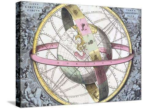 Earth's Celestial Circles, 1708 Artwork-Royal Astronomical Society-Stretched Canvas Print
