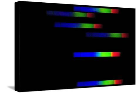 Pleiades Emission Spectra-Dr. Juerg Alean-Stretched Canvas Print