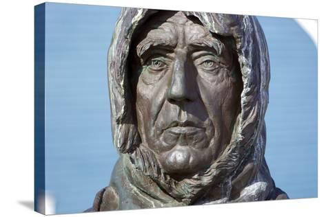 Statue of Roald Amundsen-Dr. Juerg Alean-Stretched Canvas Print