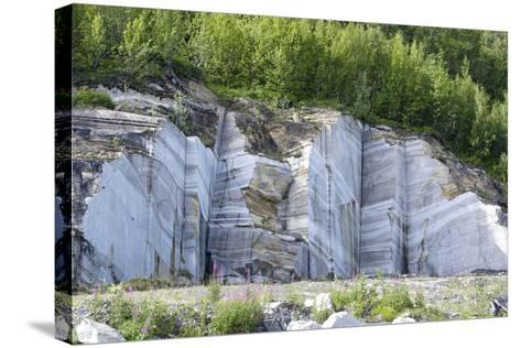 Marble Quarry, Norway-Dr. Juerg Alean-Stretched Canvas Print