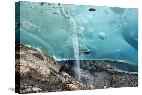 Glacial Cave, Switzerland-Dr. Juerg Alean-Stretched Canvas Print