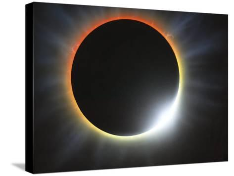 Annular Solar Eclipse, Artwork-Richard Bizley-Stretched Canvas Print