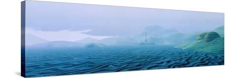 Artwork of Mars' Surface After Terraforming-Julian Baum-Stretched Canvas Print