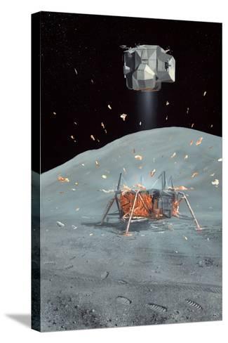 Apollo 17 Ascent Stage, Artwork-Richard Bizley-Stretched Canvas Print
