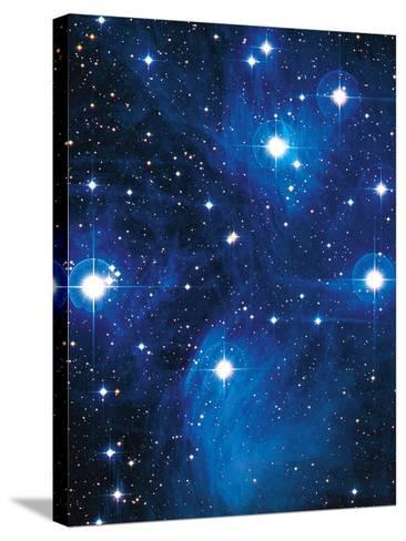 Pleiades Star Cluster-Slawik Birkle-Stretched Canvas Print