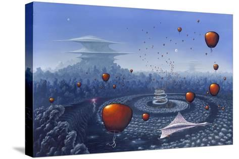 Alien Life Forms, Artwork-Richard Bizley-Stretched Canvas Print