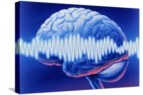 Brainwaves-John Bavosi-Stretched Canvas Print